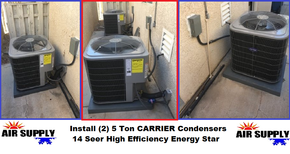 (2) 5 Ton Carrier Condensers