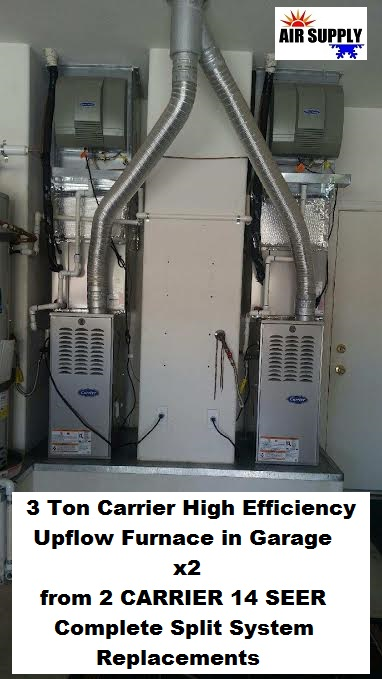 Folsom 3 ton carrier upflow furnace x2 - with words