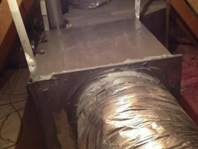 Air Supply Air Handler in Attic for Trane Gas Pack Roof Package Unit