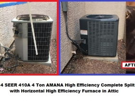 Belle Reserve Furnace 4 Ton 14S Amana split - with words