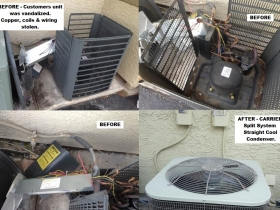 CARRIER st cool stolen condenser replacement
