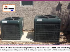 Mita 2 & 4 Ton Guardian-York 407c condensers - with words