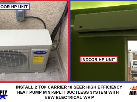 S Brown Bear Falls CARRIER 2 Ton HP ductless mini-split - with words