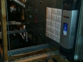 TRANE furnace in attic cleanEffects