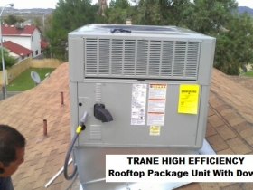 TRANE pck rooftop down shaft - with words