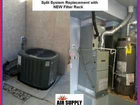 Waterfalls 4 Ton TRANE 14S split system with Filter rack - with words
