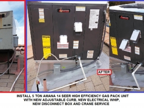 startrain 5 TON amana gas pack - with words